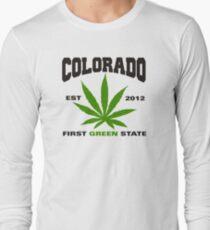 Marijuana Colorado First Green State Est 2012 Long Sleeve T-Shirt