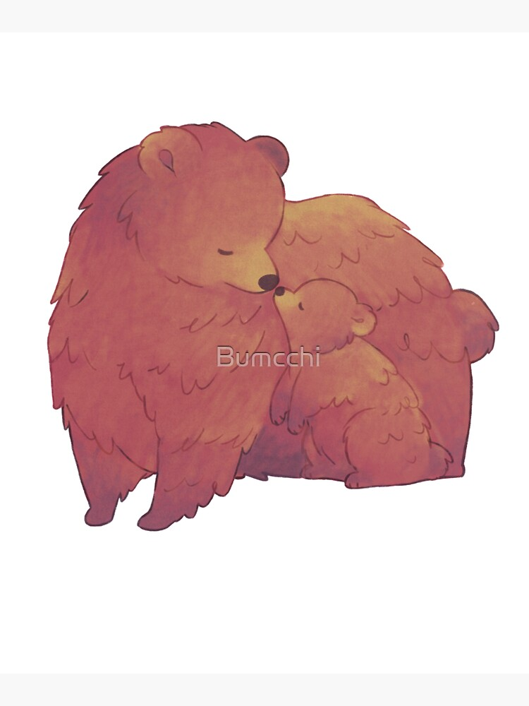Mama Bear & Cub - [Dark BG] by Bumcchi