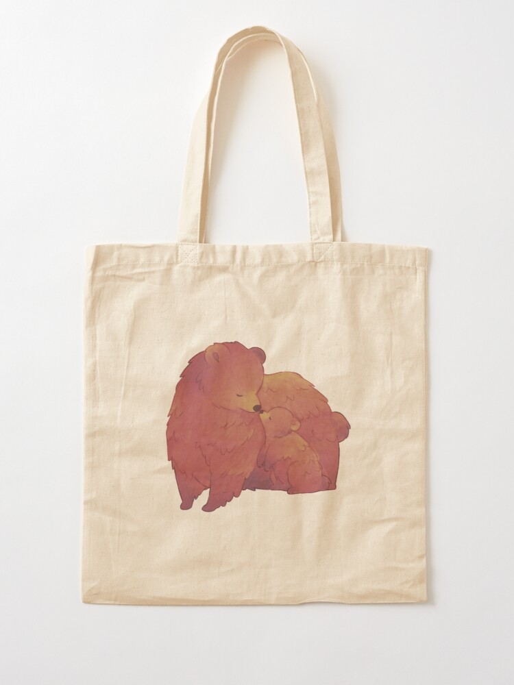 Alternate view of Mama Bear & Cub - [Dark BG] Tote Bag