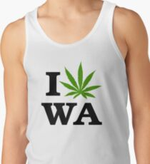 I Marijuana Love Washington Cannabis Tank Top
