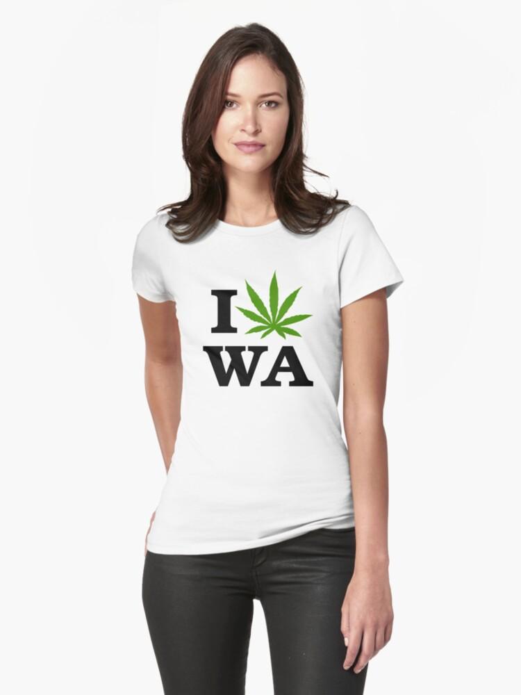 I Marijuana Love Washington Cannabis by MarijuanaTshirt