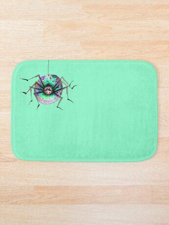 Silly Little Rainbow Spider Bath Mat