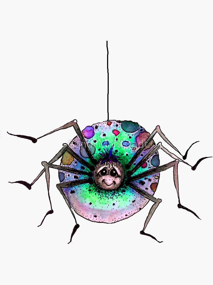 Silly Little Rainbow Spider by MeadowBug