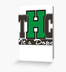 THC Marijuana Greeting Card