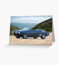 1950 Studebaker Champion Custom Convertible Greeting Card
