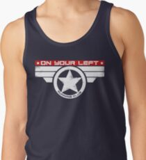 """On Your Left Running Club"" Hybrid Inverted Tank Top"