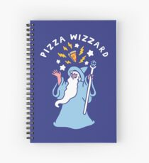 Magical Pizza Wizzard Spiral Notebook