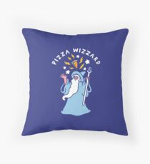 Magical Pizza Wizzard Throw Pillow