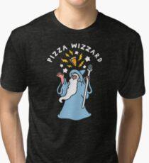 Magical Pizza Wizzard Tri-blend T-Shirt