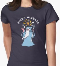 Magical Pizza Wizzard Fitted T-Shirt