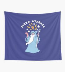 Magical Pizza Wizzard Wall Tapestry