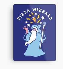Magical Pizza Wizzard Metal Print
