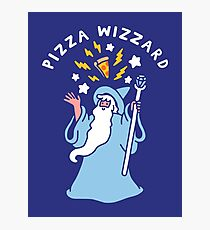 Magical Pizza Wizzard Photographic Print