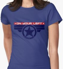 """""""On Your Left Running Club"""" Hybrid Women's Fitted T-Shirt"""