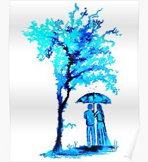 The Watercolour Tree Poster