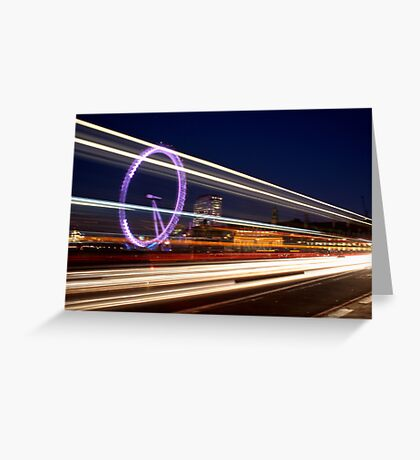 London Lines Greeting Card