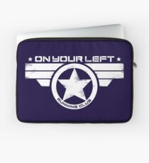 """""""On Your Left Running Club"""" Distressed Print 2 Laptop Sleeve"""