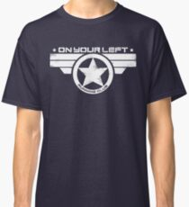 """""""On Your Left Running Club"""" Distressed Print 2 Classic T-Shirt"""