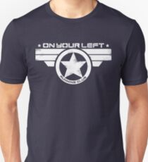"""""""On Your Left Running Club"""" Distressed Print 2 Slim Fit T-Shirt"""