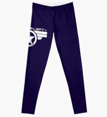"""""""On Your Left Running Club"""" Distressed Print 2 Leggings"""