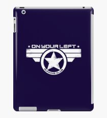 """On Your Left Running Club"" Distressed Print 2 iPad Case/Skin"