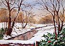 Snowy Stream by Ann Mortimer