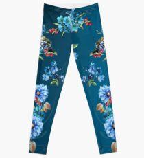 Cornflower Blues in Watercolor Leggings