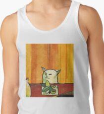 Picasso Cat Meme Paint Tank Top