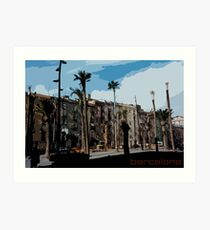 Barcelona Illustration Art Print