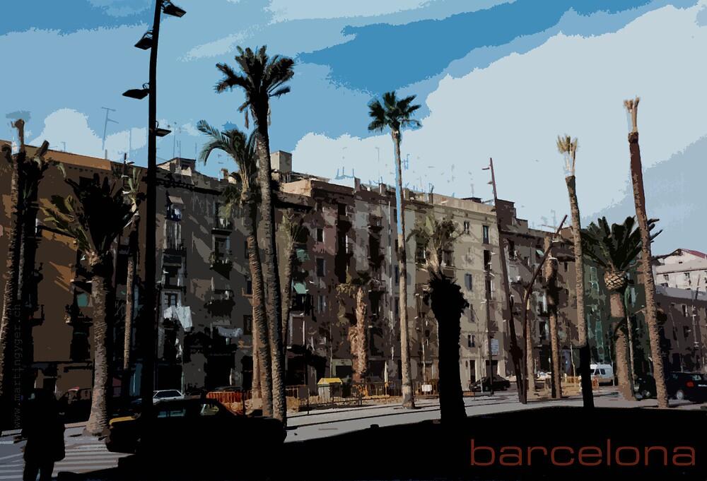 Barcelona Illustration by itchingink