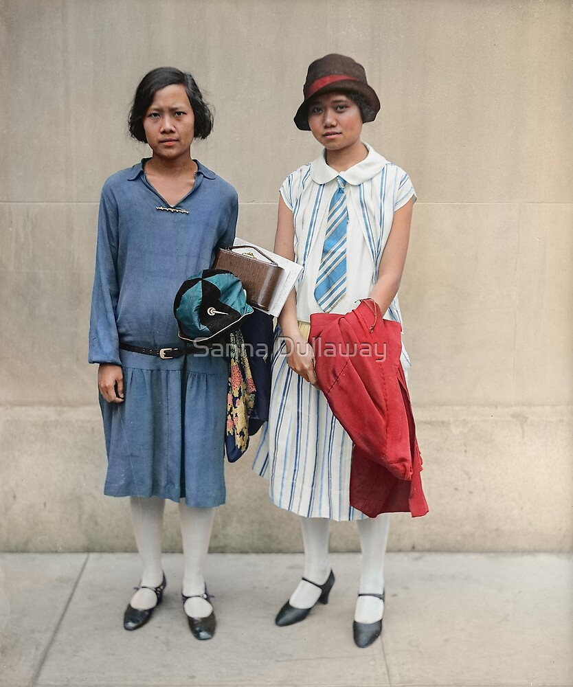 Two fashionable women in Washington D.C. 1927 by Sanna Dullaway