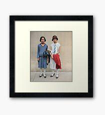 Two fashionable women in Washington D.C. 1927 Framed Print