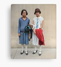 Two fashionable women in Washington D.C. 1927 Canvas Print