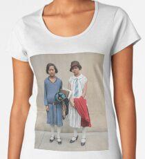Two fashionable women in Washington D.C. 1927 Premium Scoop T-Shirt