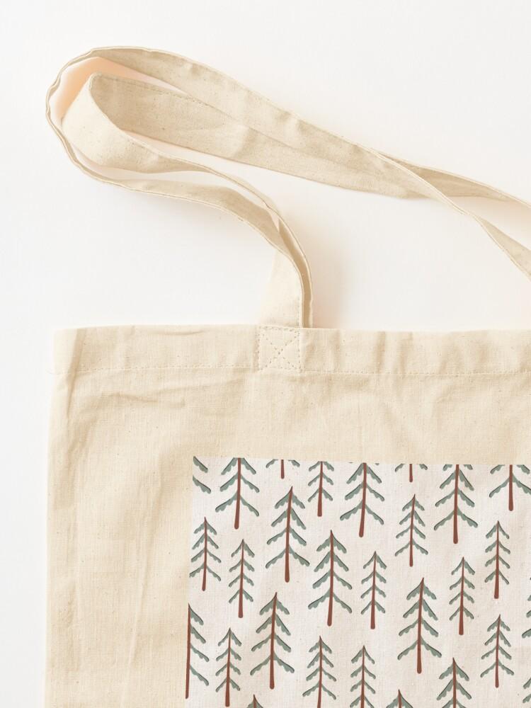 Alternate view of Fir tree doodle wood  Tote Bag