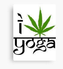 I Marijuana Yoga Canvas Print