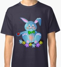 Cute Blue Bunny Tee Classic T-Shirt
