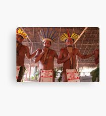 Amazon Negro River Indians Ritual Canvas Print
