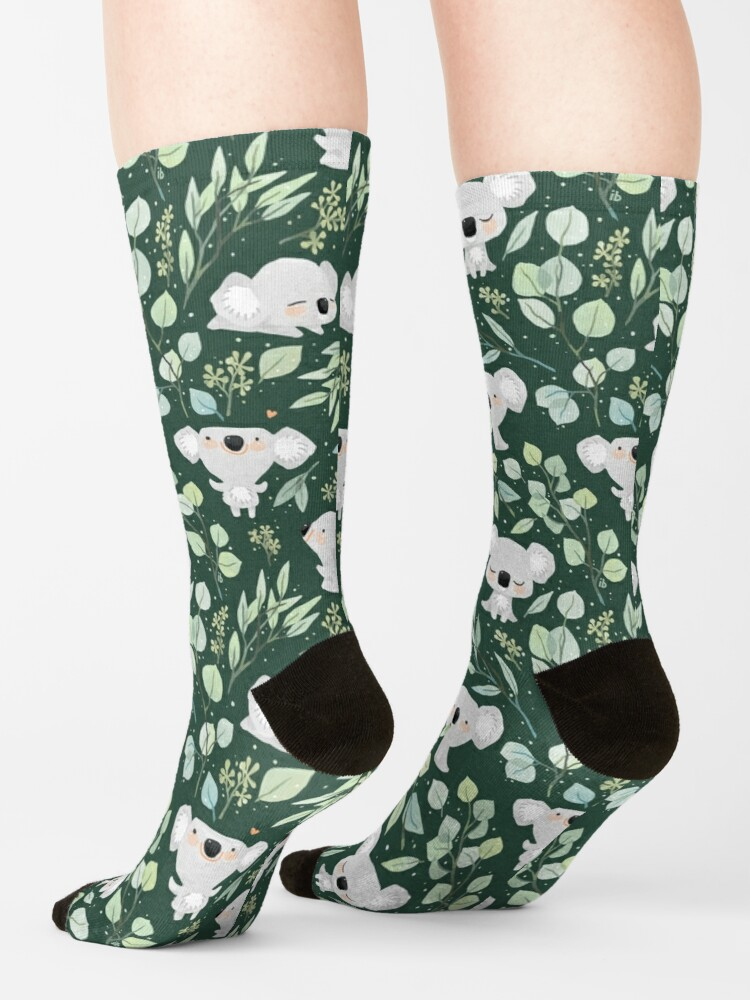 Alternate view of Koala and Eucalyptus Pattern Socks