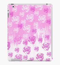 Vinilo o funda para iPad Girly pink watercolor hand made floral pattern