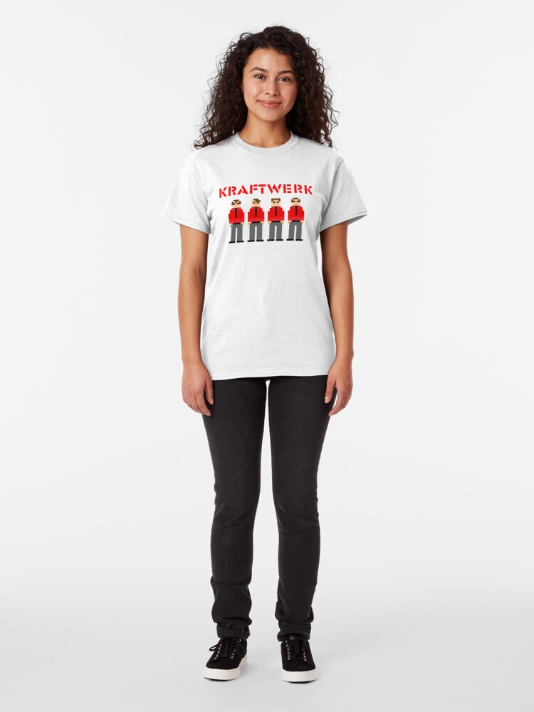 Vista alternativa de Camiseta clásica Kraftwerk de 8 bits
