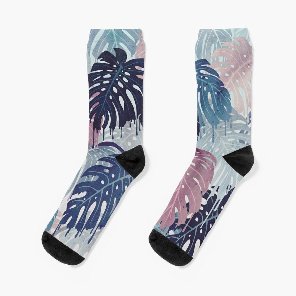 Monstera Melt Socks