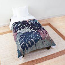 Monstera Melt Comforter