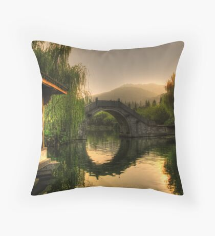 Asian Arch Throw Pillow