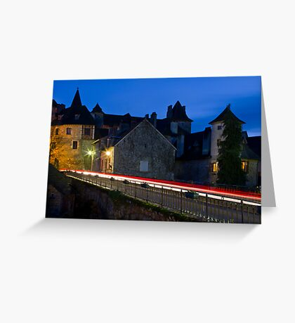 Twilight Settles Over Carennac Greeting Card