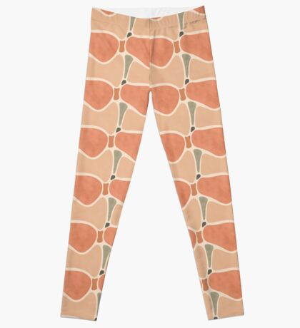 Terracotta Shapes #redbubble #abstractart Leggings