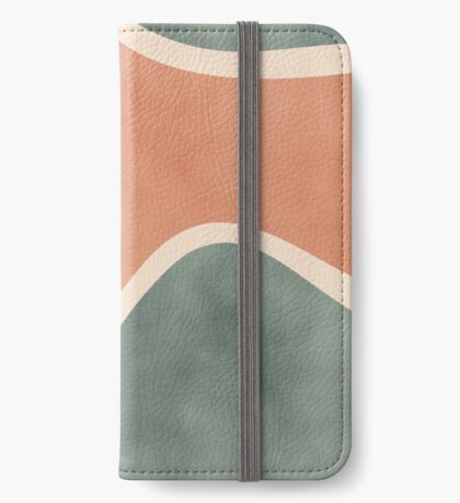 Earth Tones Shapes #redbubble #abstractart iPhone Wallet