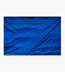 blue screen Photographic Print