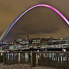Millenium Bridge Snow Clouds by Phil-Edwards