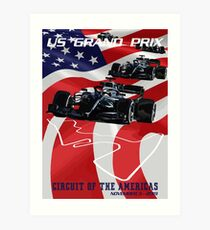 2019 United States Grand Prix - CIRCUIT OF THE AMERICAS Art Print